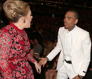 Adele clears up Chris Brown dispute rumours