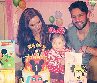 Una Healy's daughter celebrates her first birthday