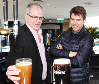 Tom Cruise visits the home of Guinness