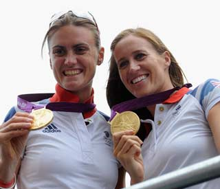Olympic rowing medallists honoured by the Queen