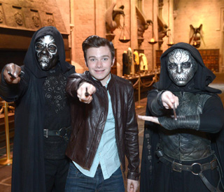 Glee's Chris Colfer visits Warner Bros. Studio