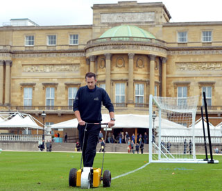 Pitch prepared for Prince William's football match