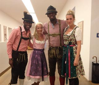 Usain Bolt dresses up for Oktoberfest