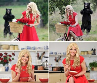 Victoria Pendelton transforms into Goldilocks