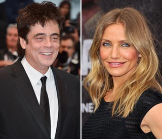 Cameron Diaz enjoys dinner with Benicio Del Toro