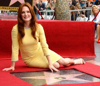 Julianne Moore receives Hollywood star