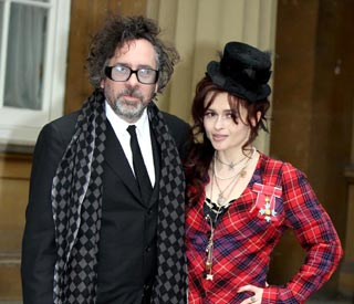 Helena Bonham Carter and Tim display united front