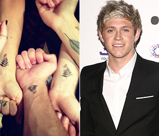 Niall Horan shows off his first tattoo