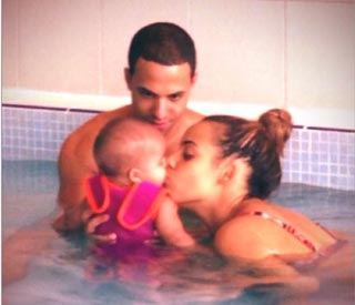 Marvin Humes posts snap of Alaia in swimming pool