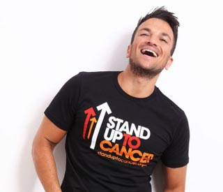 Peter Andre backs Stand Up to Cancer campaign