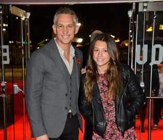 Gary Lineker takes stepdaughter to premiere