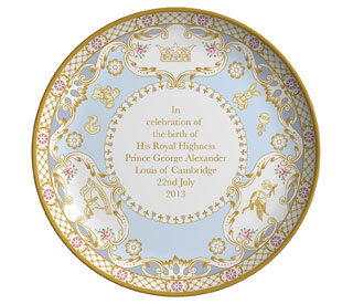 Prince George commemorative plate created for Kate Middleton's charity