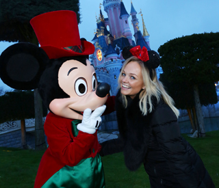 Emma Bunton gets into the festive spirit at Disneyland Paris