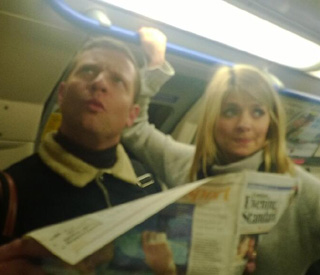 Dermot and Holly takes to the London tube