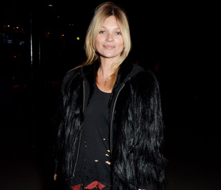 Kate Moss goes rock chick for London event