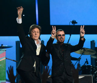 Paul McCartney and Ringo Starr reunited on stage
