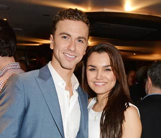 Samantha Barks supports new boyfriend at play