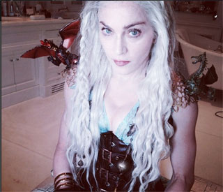 Madonna shows off Mother of Dragons costume