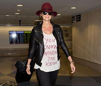 Stacy Keibler makes statement with T-shirt