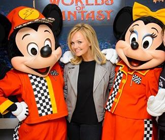 Emma Bunton meets Mickey and Minnie Mouse