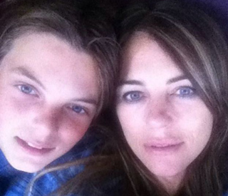 Elizabeth Hurley's son is image of mum in rare selfie