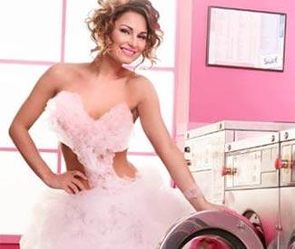 Sam Faiers wears custom-made bubble dress