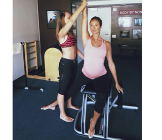Stacy Keibler reveals key to fitness during pregnancy