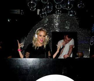 Kimberly Wyatt hits the decks in London