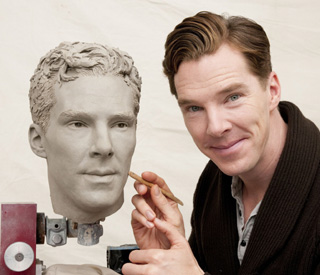 Benedict Cumberbatch helps sculpt Madame Tussauds wax figure