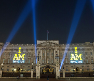 Buckingham Palace lit up ahead of Invictus Games