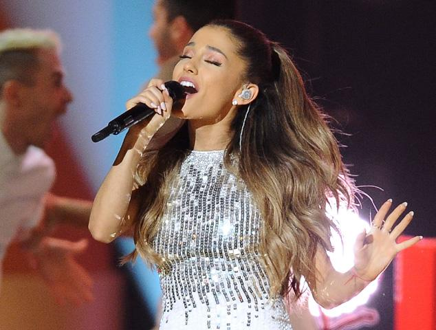 Ariana Grande performs at 'A Very GRAMMY Christmas' event