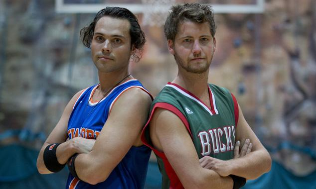 MIC stars Andy and Stevie go head to head on the basketball court