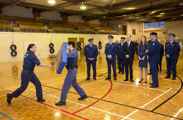 police training duke and duchess cambridge