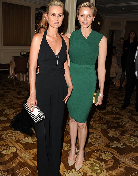 Princess Charlene of Monaco with Valerie Macon