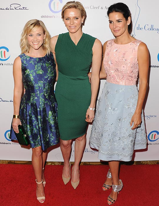 Princess Charlene of Monaco with Reese Witherspoon and Angie Harmon
