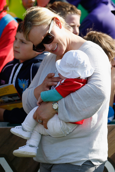 Zara Phillips and baby Mia