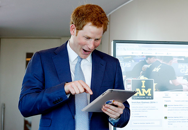 prince harry twitter