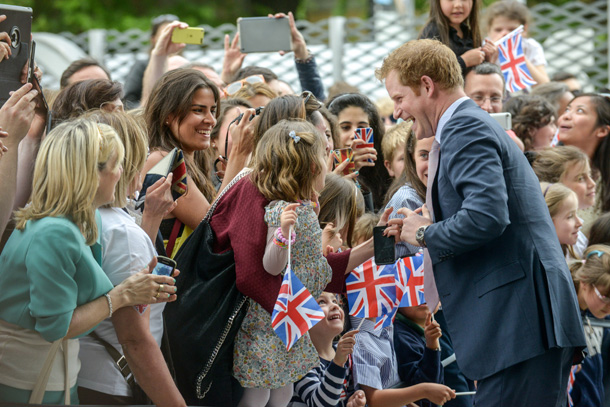 Prince Harry on royal tour of Italy