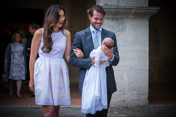 Prince Félix and Princess Claire of Luxembourg baby