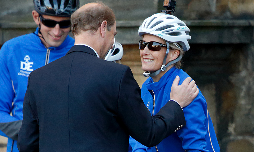 Sophie Wessex embarks on her 445 mile cycle ride: 'The Queen thinks I'm crazy'