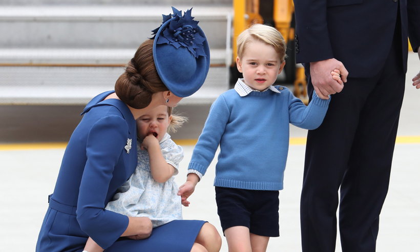 Kate Middleton Prince William Prince George And Princess