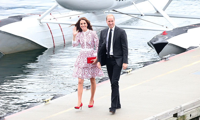 Kate Middleton stepped off a sea plane rocking what looked to be 4-inch heels