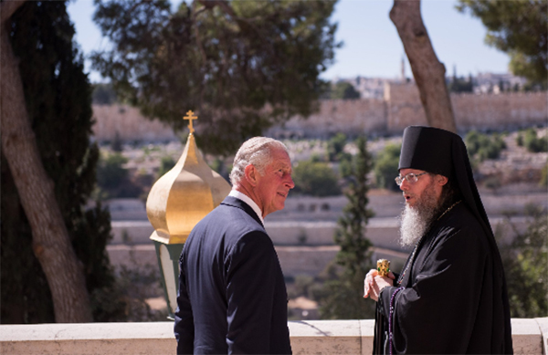 Prince Charles visits the grave of his grandmother Princess Alice in Jerusalem