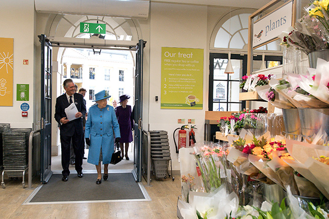 The Queen visits Waitrose in Poundbury