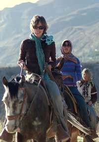 Riding in the Andes