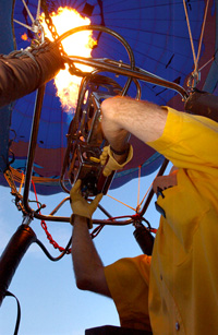 Controlling the gas flare on a hot air balloon