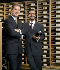 Sotheby's wine store, New York
