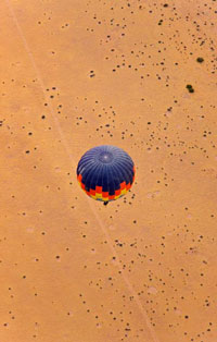 Balloon over Namib desert