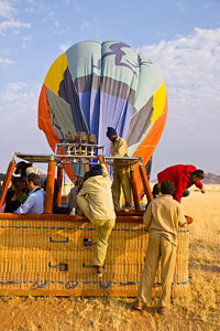 Namib desert by balloon