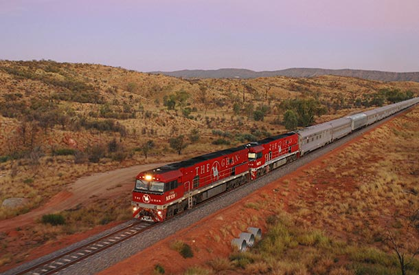 The Ghan in Australia's Outback
